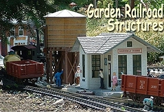 Click to see articles about building structures for your garden railroad.