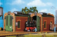One example of a popular POLA building kit - a two-stall engine house, no longer made as far as I can tell - it costs double what it used to when it was in prouction. Like most POLA buildings, it's inspired by a Bavarian prototype, but this one could be used on a North American prototype railroad if you could find it for less than the cost of a major appliance.